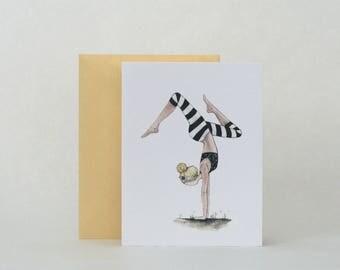 "YOGA ""HANDSTAND""  |  CARD"