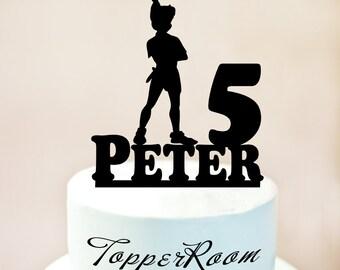 Peter Pan Cake Topper,Peter Pan Birthday Cake Topper,Custom Peter Pan Cake Topper,Peter Pan Birthday Party Supplies,disney Party Decor 1062