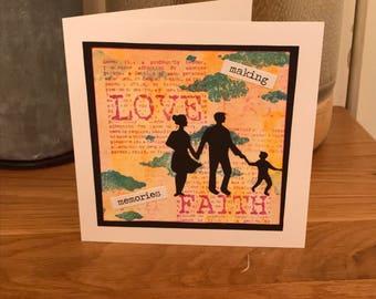 Handmade 6x6 card - making memories