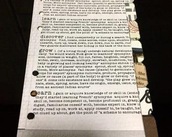 Medium / Personal Planner Kikki K Filofax Dividers Bookworm Themed