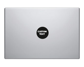 2x Macbook Decals Custom Personalised Text | Removable Vinyl Laptop/iPad Sticker | 80+ Fonts To Choose From