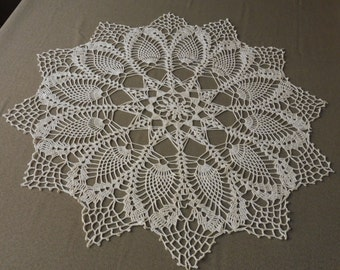 Large Hand Wooven Crocheted Doily