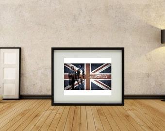 The Libertines - Framed Union Jack Print
