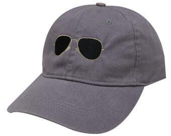 Capsule Design Sunglasses Cotton Baseball Dad Cap Dark Grey
