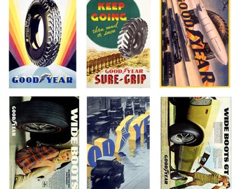 scale vintage Goodyear tire posters
