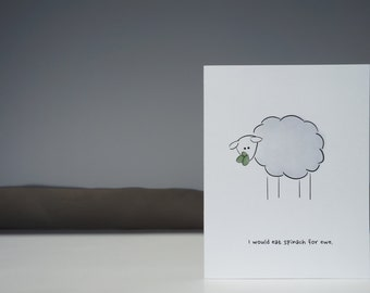 Sheep Card // Funny Card // Love Card // Greeting Card