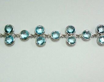 Blue Topaz bracelet, Topaz Bracelet, Silver Bracelet, Blue Bracelete