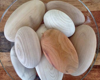 Wooden River Stones | Wood | Wood Burning | Arts and Crafts | Home Decor | Cottage Decor | Beach Decor | Natural Decor | River Rocks