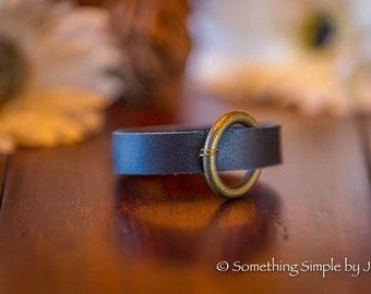 Brass Ring leather bracelet