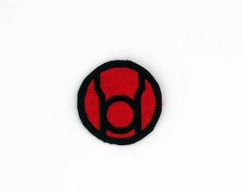 Red Lantern Patch, Lantern Corp Patch, DC Patch, Red Lantern Corp, Red Lantern Pin, Iron On Patch, Red Lantern Embroidered Patch, Sew On