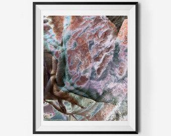 Vintage Fabric Abstract Printable Wall Art, Instant Download