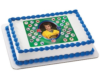NFL Teams Picture Frame Edible Cake Topper