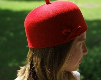 Felt/felt Cap Red Fez