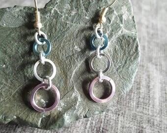 Square Rings Earings