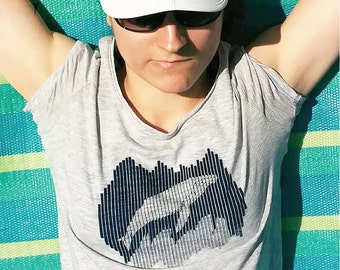 Women's Whale T-Shirt - Humpback (Balaena Collection)