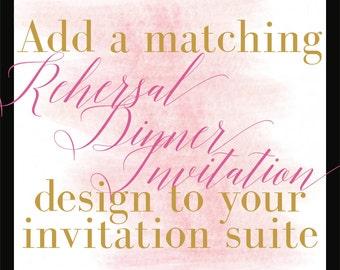 Add a Design/Rehearsal Dinner Invitation/Coordinating Design/DIY Printing/Budget Conscious Brides