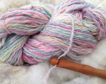 Tutti Fruitt Merino and Silk Handspun Yarn