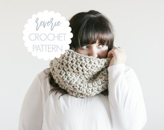 PATTERN | Reverie Handmade Tall Chunky Crochet Cowl | THE LOUTH