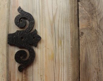 Hand forged door hinges