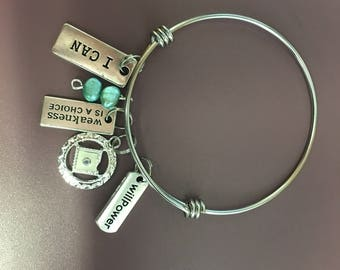 Narcotics Anonymous bangle bracelet