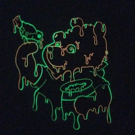 1000μg Wood ~ Fluorescent Glow Tee