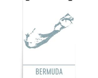 Bermuda Map, Bermuda Art, Bermuda Print, Bermuda Poster, Bermuda Wall Art, Map of Bermuda, Bermuda Gift, Bermuda Decor, Bermuda Map Art