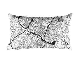 Austin Pillow, Austin Throw Pillow, Austin Decor, Austin Gift, Austin Map, Austin Art, Austin TX, Austin Texas, Cushion, Map of Austin