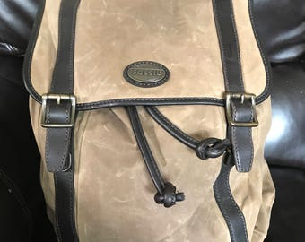 Fossil Wax Canvas Backpack Free Shipping in the US.