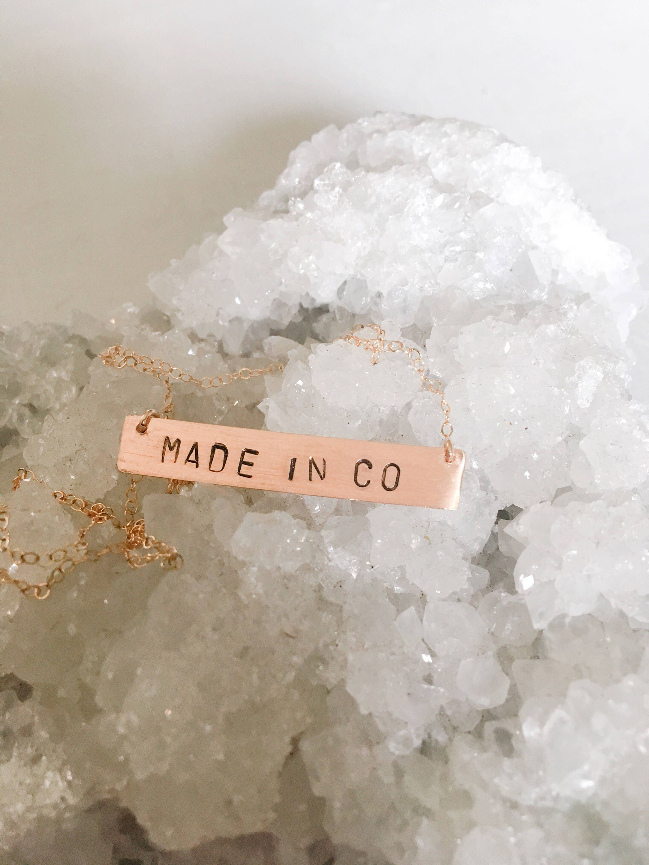 Made In Colorado// Bar Necklace// Gold bar necklace// sterling bar necklace// gold fill neckkace// locals only// colorado made// made in