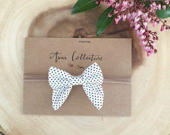 Classic Pigtail Bow / Tuxedo bow/ nylon headband/ hairclip/ bow/ baby accessories/ hair accessories/ pigtail bow