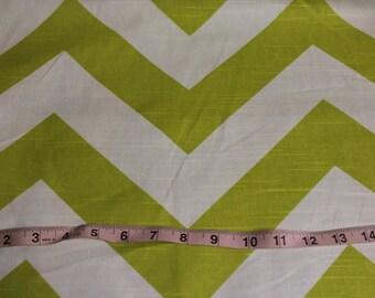 FABRIC Sale PREMIER PRINT Green chevron Green Zigzag Fabric by the yard Cotton fabric cotton medium weight green white fabric