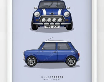 Mini Cooper Print (Various Colours)