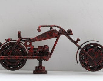 Figurines Metal Art Metal Motorcycle