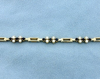 18K Diamond & Sapphire Bracelet