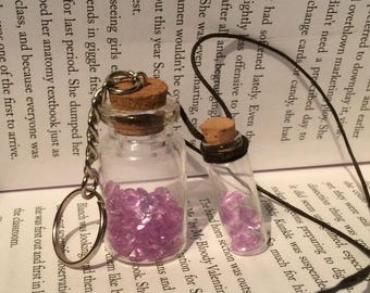 Crystal set - Necklace and Keyring
