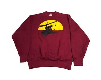 Vintage Miss Saigon Crew Neck Sweater Size (Large) (1988)