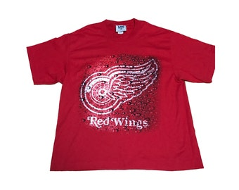Vintage Detroit Red Wings Rain Shirt Size (Large)