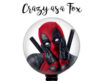 Deadpool Badge Reel,  Deadpool Retractable ID Badge Holder, Super Hero Badge Reel, ID Badge Reel