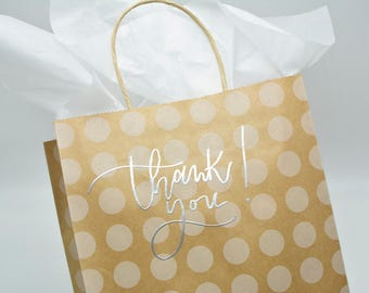 Gift Bags - Embossed, Polka Dot/Stripe/Chevron Variety - VARIOUS SIZES AVAILABLE | Wedding Shower Bridal Gift, Thank You Bags, Guest Bag