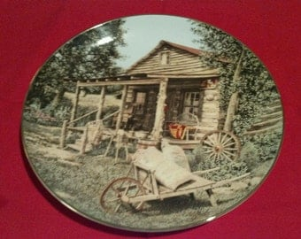 The Quilted Cabin Collectors Plate