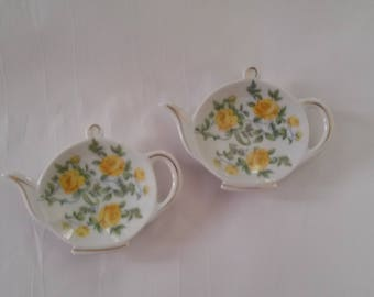 Vintage Lefton China Teabag Holders