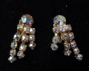 Stunning Iridescent Clip on earrings