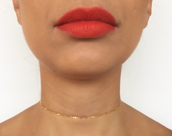 Gold Bar Choker | Gold Necklace | Gold Chain | Gold Chain Necklace | Chain Choker | Chain Necklace | Gold Chain Choker | Sterling Silver