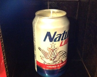 Handmade Natural Light Beer Can Candle Gingerbread Scent, L@@K