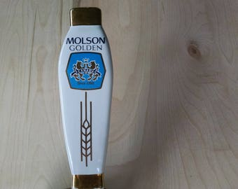 Molson Golden 3 sided tap handle