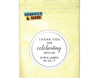 White Dotted Thank You Celebrating Us 2.25 Inch Diameter Personalized Custom Kitchen Refrigerator Locker Button Magnet