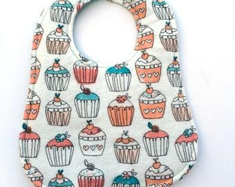 Cupcake Baby Bib