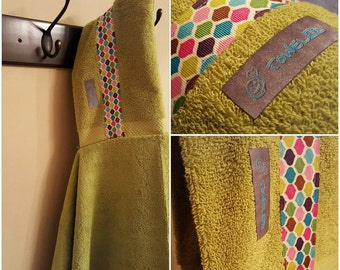 Lime/Vintage Dome Towel-D! Hooded Towel. Ready to Ship!