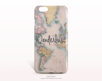 iPhone 7 Case Map iPhone 7 Plus Case WANDERLUST iPhone 6S Case iPhone 6 Plus Case iPhone SE case iPhone 6 Case Samsung Galaxy S8 Case