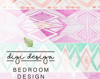 DIGI - DESIGN | Bedroom + Free Art Print